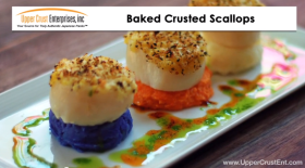 Baked Crusted Scallops