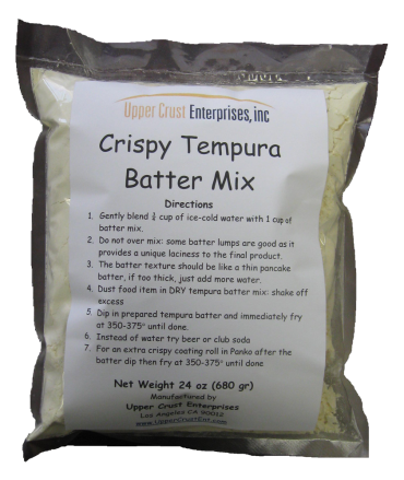 Crispy Tempura Batter Mix Retail Package 24oz