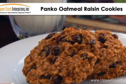 Panko Oatmeal Raisin Cookies