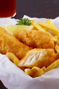 tempura battered fish & chips