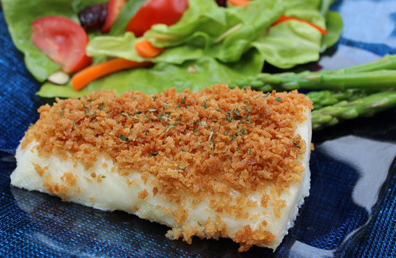 Whole Wheat Panko on Baked Fish